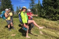 Übungen während der Wanderung