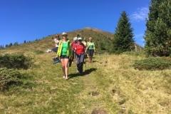 Kurzer Abstieg zur Grazer Hütte